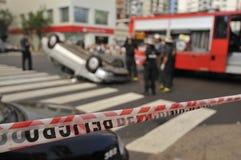 A car overturned