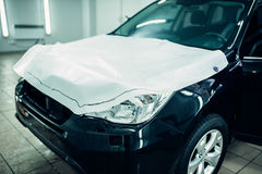 Car paint protection film, hood protect Royalty Free Stock Photo