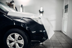 Car paint protection film, hood protect Royalty Free Stock Images