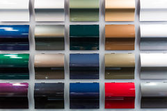 Car Paint Samples Stock Images