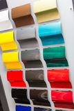 Car paint samples Stock Photos