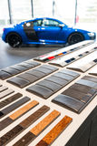 Car paint samples Stock Image