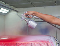 Car painting Stock Photos