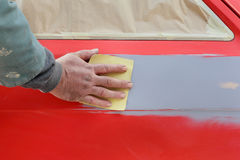 Car painting Royalty Free Stock Image