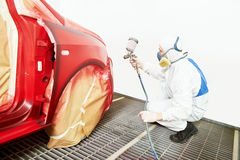 Car painting in chamber Royalty Free Stock Image