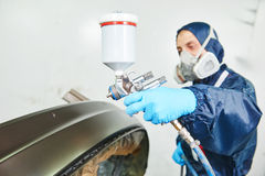 Car painting in chamber Stock Images