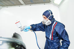Car painting in chamber Stock Photos