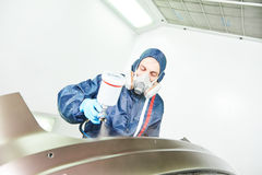 Car painting in chamber Stock Photography