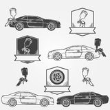 Car painting emblems or labels Royalty Free Stock Image