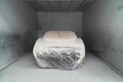 Car painting forward activity Royalty Free Stock Photo