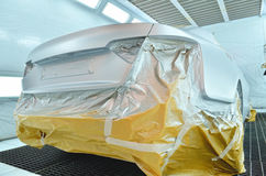 Luxury car inside car painting special room Royalty Free Stock Photos