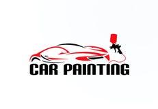 Car painting logo vector design Stock Photos