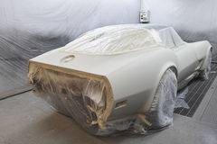Car painting room Royalty Free Stock Image