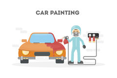 Car painting service. Royalty Free Stock Photography