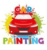 Car painting. Royalty Free Stock Photos