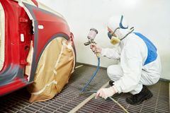 Car painting technology Stock Photo