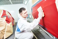Car painting technology Stock Images