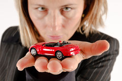 Car on the palm Stock Photography