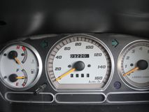 Car panel instruments stock photography