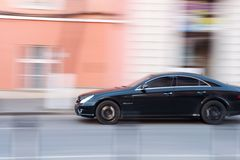 Car panning Royalty Free Stock Photography