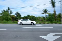 Car Panning Royalty Free Stock Images