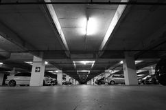 Car park. View of an underground car park royalty free stock image