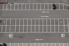 Car Park. A Parking space from above Stock Photography