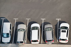 Car park, aerial view Royalty Free Stock Photography