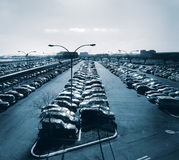 Car Park at Airport. Car Park at Newark Airport in NJ royalty free stock photo