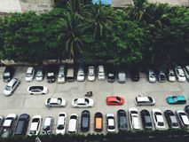 Car Park in Bangkok, Thailand. Full Car Park in the town Bangkok, Thailand stock images