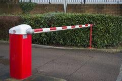 Car park barrier. Seen outside private car park. UK Stock Photos