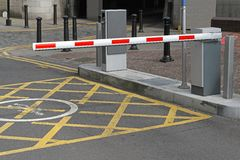 Car park barrier Royalty Free Stock Photography