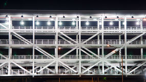 Car park building at night Royalty Free Stock Photos