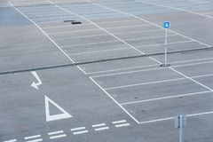 Car park. With empty parking lot Royalty Free Stock Image