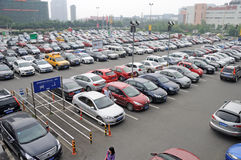 Car park in chengdu Stock Photos