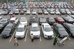 Car park in chengdu Stock Images