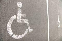 Car park for disabled Stock Photos