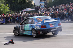 Car park drift Stock Photo