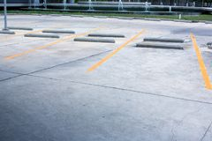 Car park empty.outdoor of parking garage with car and vacant parking lot in parking building. Some carpark empty in Condominium or department store royalty free stock photos