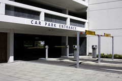 Car Park Entrance. With barriers and ticket machines royalty free stock photo