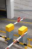 Car park entrance barrier Royalty Free Stock Image