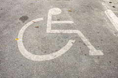 Car park for handicapped Stock Photography