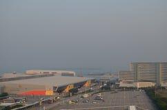 Car park at hong kong airport. Stock Photos