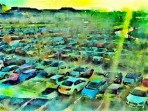 Car park illustration Stock Images
