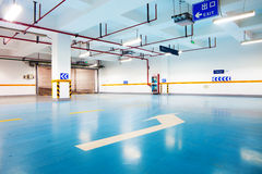 Car park interior Royalty Free Stock Images