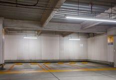 Car park interior at night Stock Images