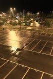 Car park at night Royalty Free Stock Image