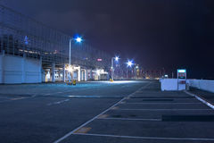 Car park at night Royalty Free Stock Image