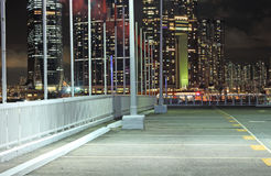 Car park at night Stock Photography