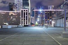 Car park at night Royalty Free Stock Images